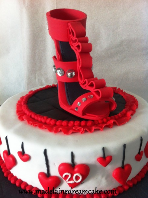 Red Louboutin Cake