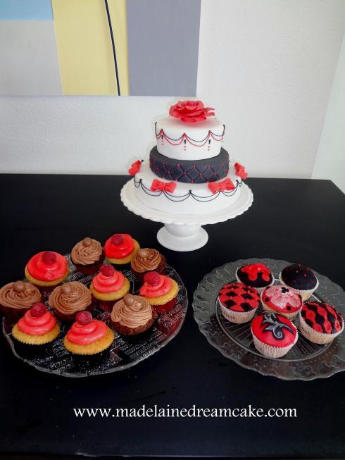 Rot Schwarz Cake & Cupcakes