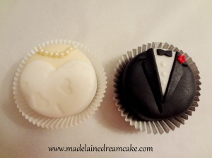 Braut und Bräutigam Cupcakes