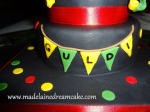 Black Birthday Cake