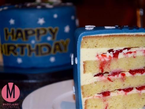 Vanille Torte mit Himbeeren