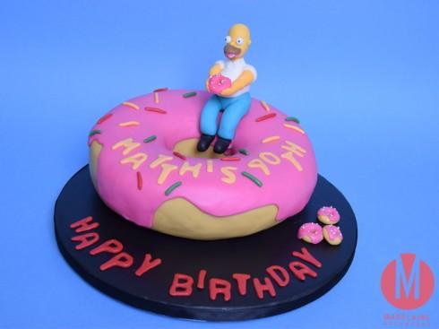 Homer Simpsons Donat Cake