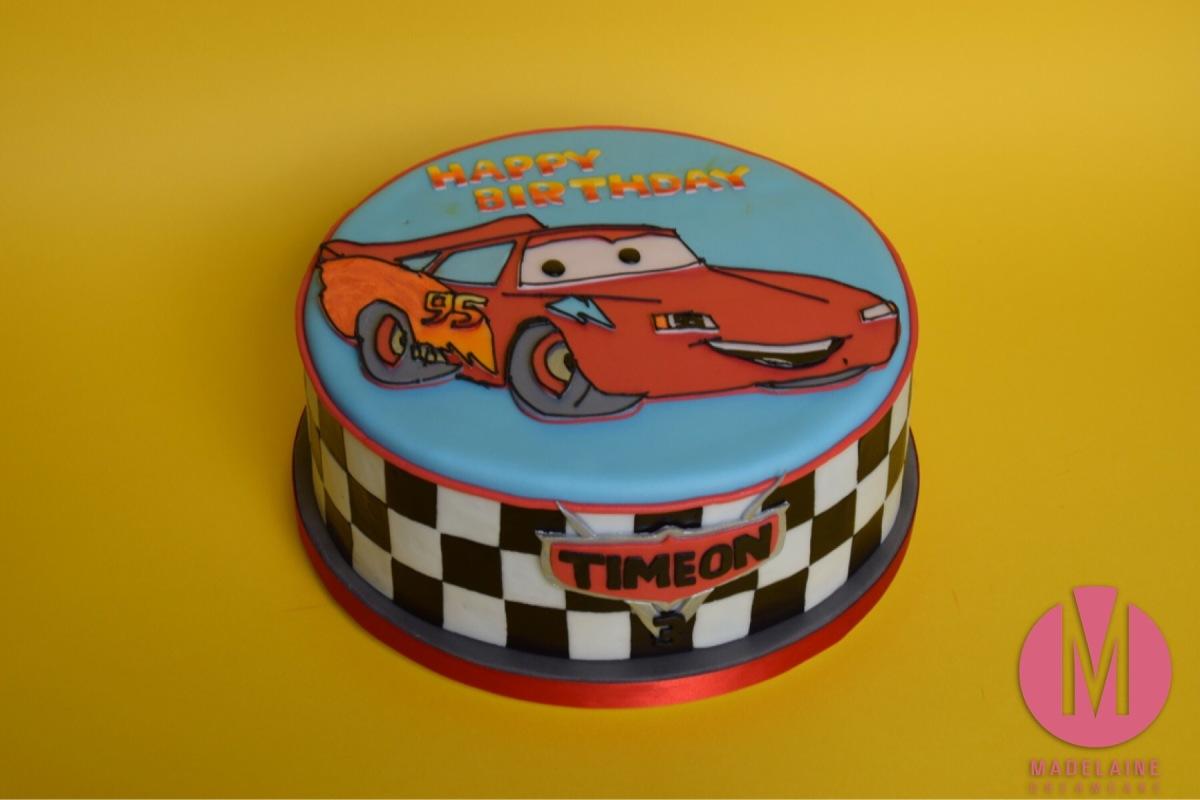 Cars, Lightning Mcqueen Torte