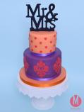 Farbige Hochzeitstorte 2015